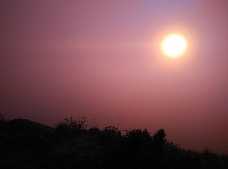 Sunset Knuckles Range Sri Lanka